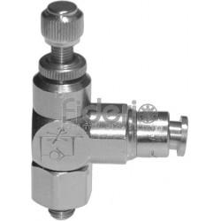 M5 per tubo da 4 mm metrico Regolatore di flusso per cilindro